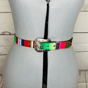 Accessories - Mexican Colorful Embroidered Belt Size 26/27.